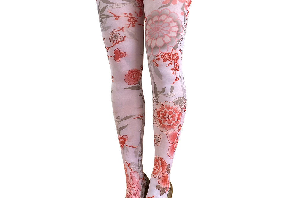 Floral Tights Japanese flower for all Women Malka Chic