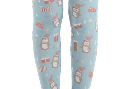 Christmas Penguin Patterned Tights for Women