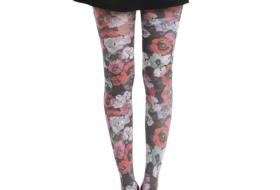 Colorful Floral Patterned Tights Poppy for Women