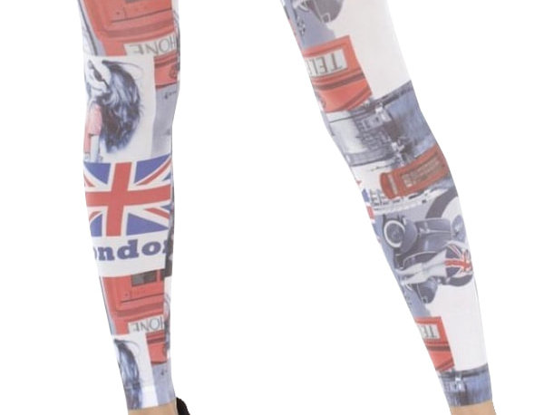 Patterned Footless Tights London for Women