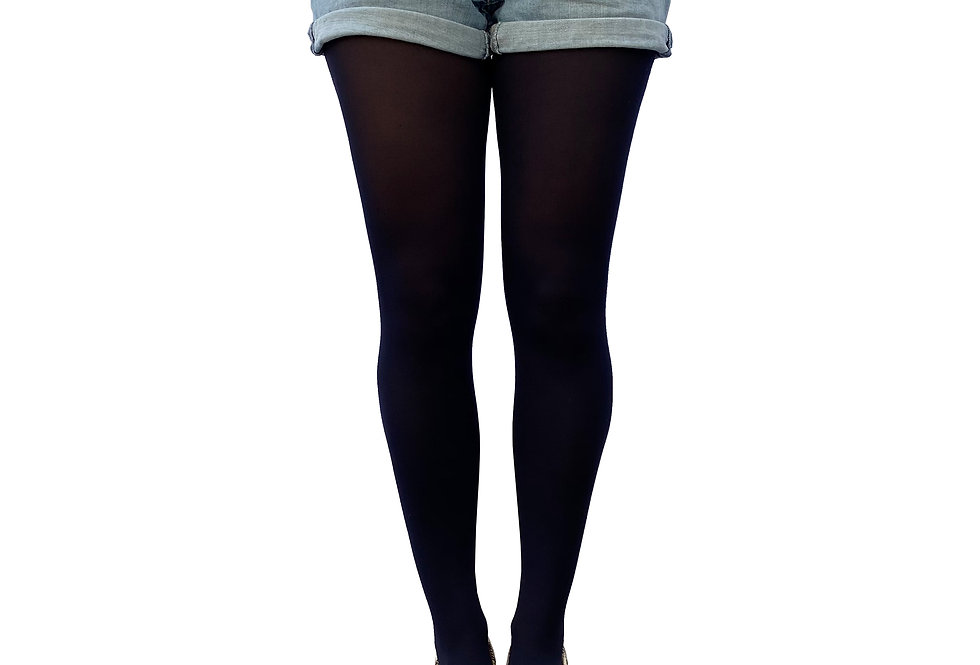 Navy Blue Opaque Tights 80 D for Women