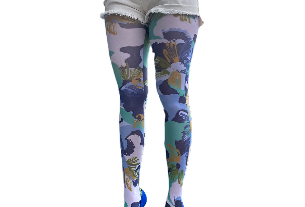 Floral Camo Tights for Women Malka Chic
