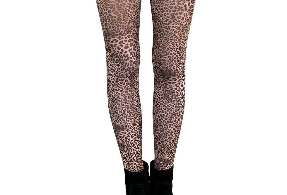 Petite Leopard Patterned Tights for Women Malka Chic