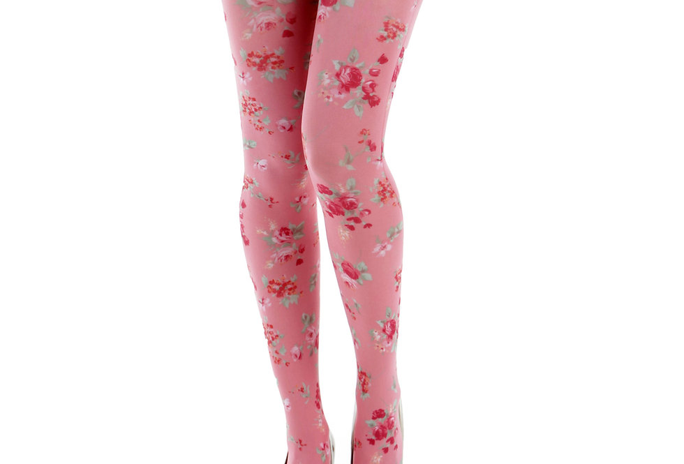 Floral Tights Pink Ditsy for all Women Malka Chic