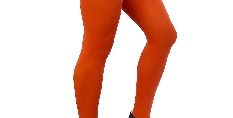 Plus Size Tights Orange Rust for Women