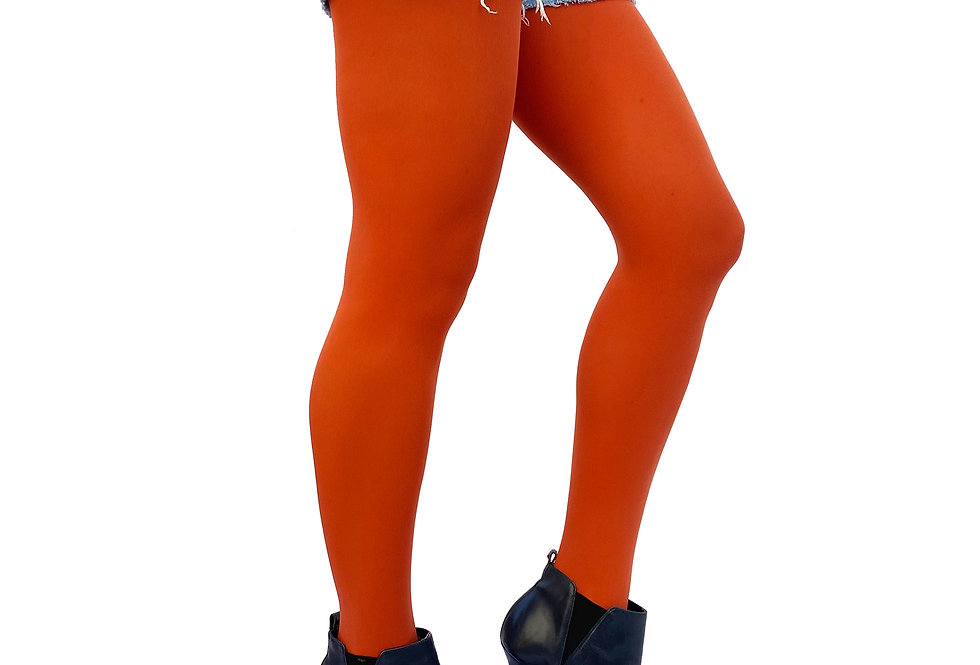Plus Size Tights Orange Rust for Women