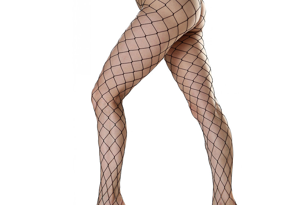 Black Large Fishnet Tights for Women