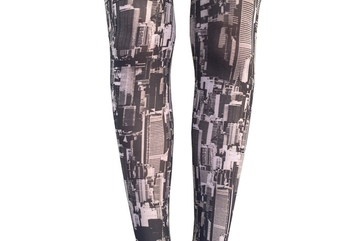 New York City Patterned Tights for Women