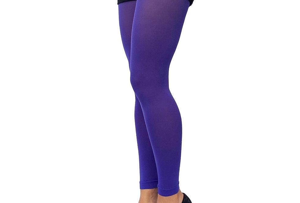 Bright Purple Footless Tights