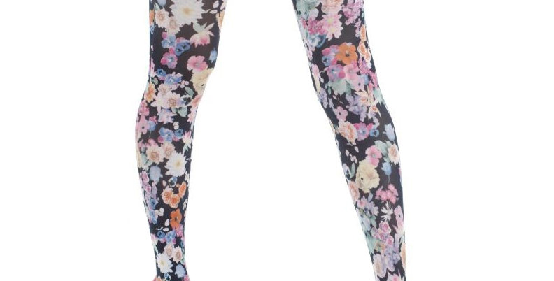 Colorful Floral Patterned Tights Garden Flower for all Women
