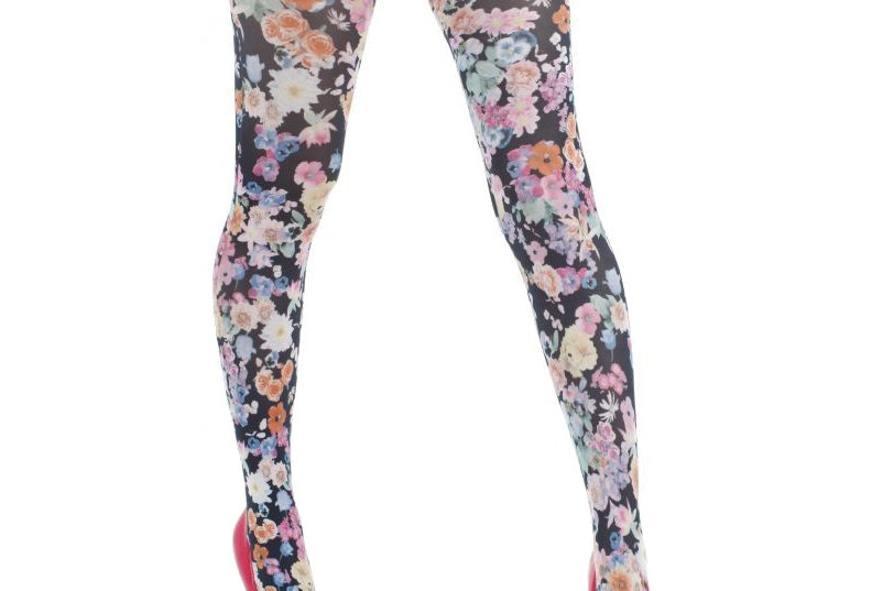 Floral Patterned Tights Garden for Women