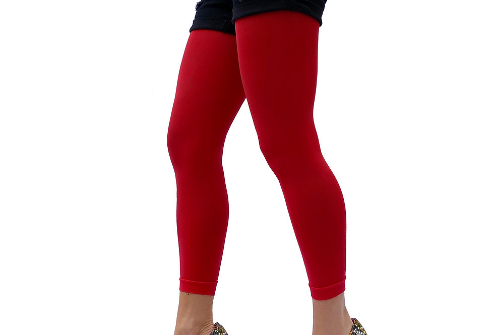 Red Footless Tights for women malka Chic