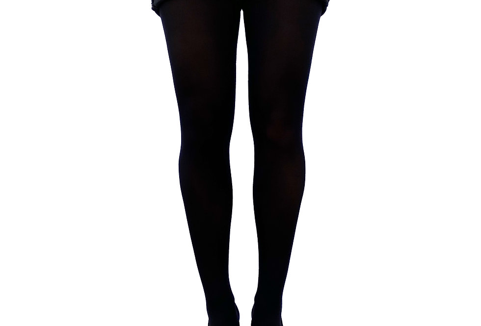 Black Opaque Tights 80 D for Women Malka Chic