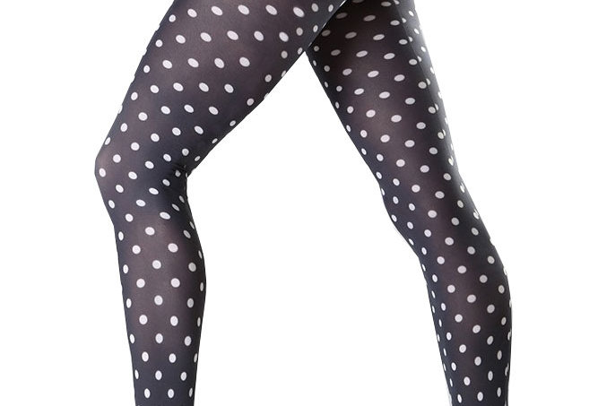 Black and White Patterned Tights Dotty for all Women