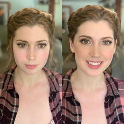 Before and after of this Natural Bride ���