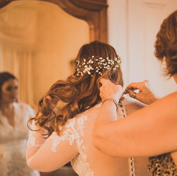 Bride's hair and makeup by Valen