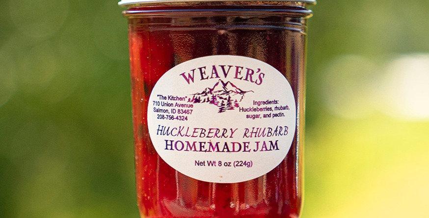Huckleberry Rhubarb Homemade Jam