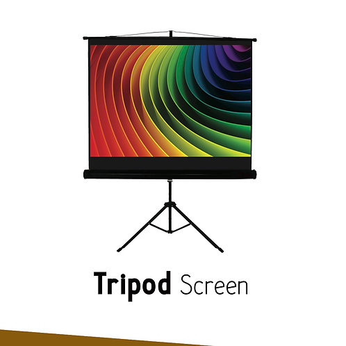 "TRIPOD SIMPLE SCREEN 84"" x 84"""