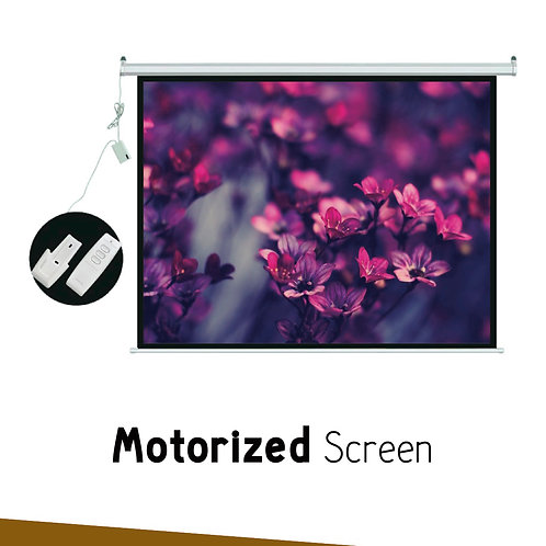"MOTORIZED SIMPLE SCREEN 133""(Tubular motor )"
