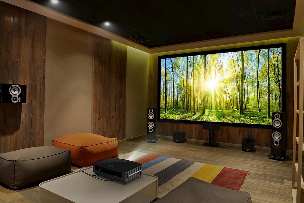 FIXED FRAME SCREEN adalah jenis screen yang didesain chooses untuk ruang cinema