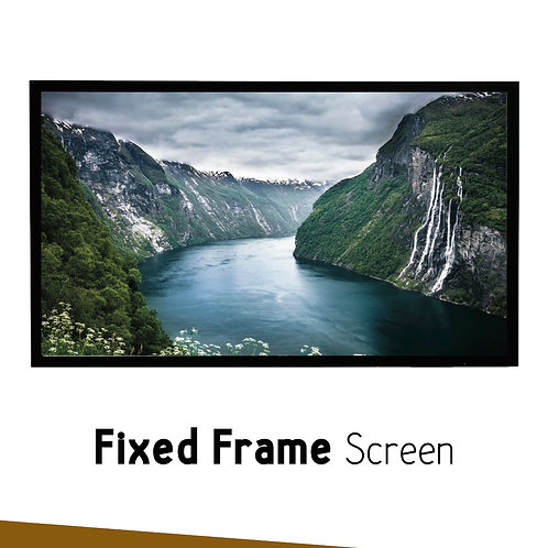 "FIXED FRAME SIMPLE SCREEN 120"" 16:9"