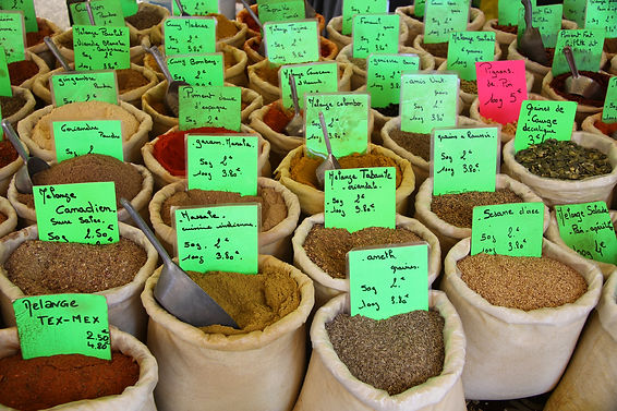 Herbs and spices at a french market.jpg