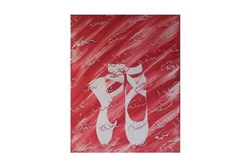 Original - Acrylbild 40x50 cm - Ballerina Schuhe
