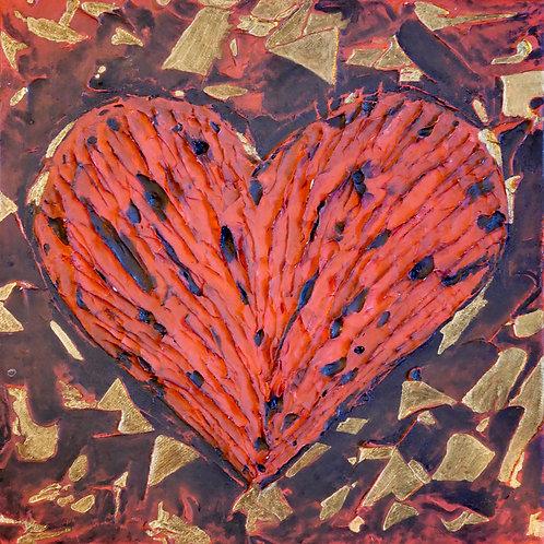 Original - Ölbild 30 x 30 cm - Broken Heart