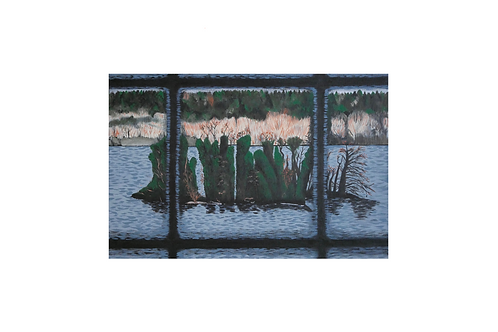 Original - Acrylbild 60x40 cm - Prinzensinel Plön