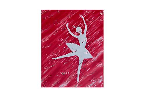 Original - Acrylbild 40x50 cm - Ballerina