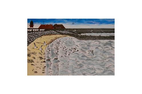 Original - Acrylbild 60x40 cm - Büsum am Strand