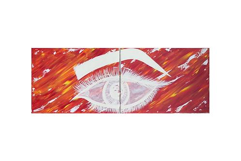 Original - Acrylbild 2x40x30 cm - White EYE
