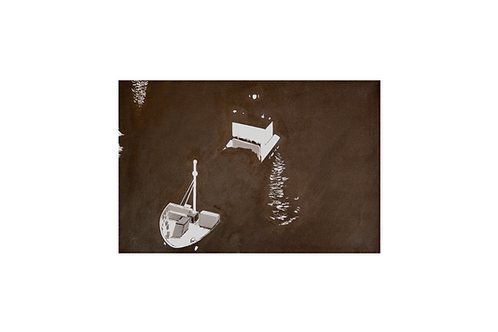 Original - Acrylbild 60x40 cm - Schiff bei Nacht im NOK