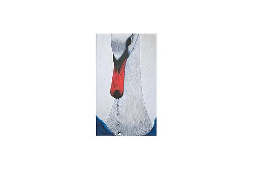 Original - Acrylbild 60x100 cm - Erhabener Schwan mit Wassertropfen im NOK