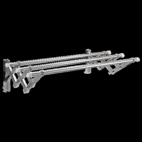Giàn phơi xếp ống 19mm thông minh cao cấp inox 304 loại 1.5 mét