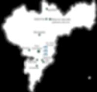 Carte de la région du café