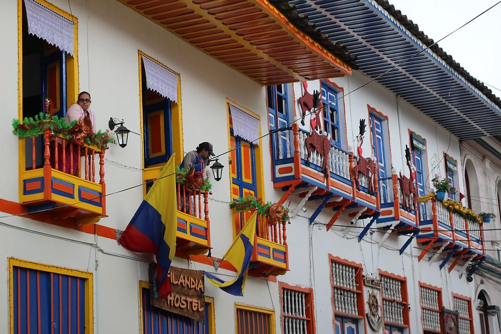 Maisons typiques de Filandia en Colombie