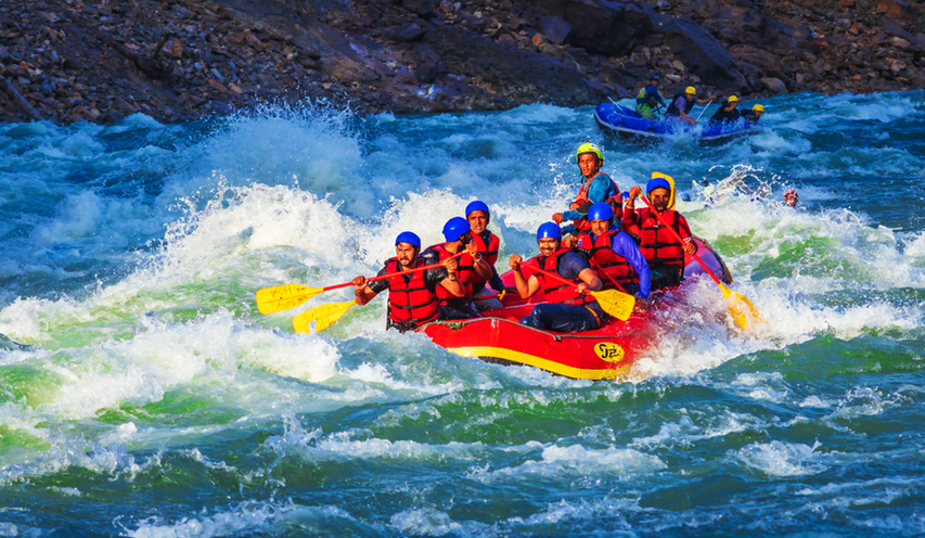 """River Rafting in Rishikesh"" 