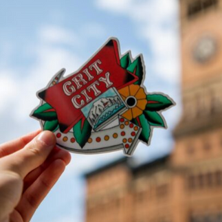 Grit City Sign Sticker