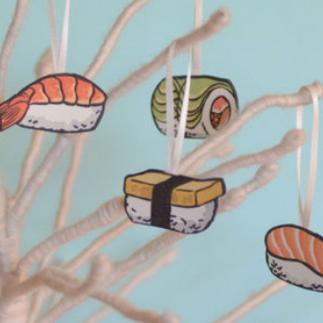 Sushi Ornaments