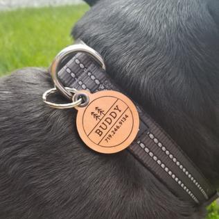 Custom Leather Dog Tag