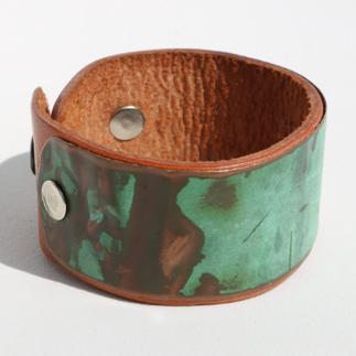 Copper & Leather Cuff
