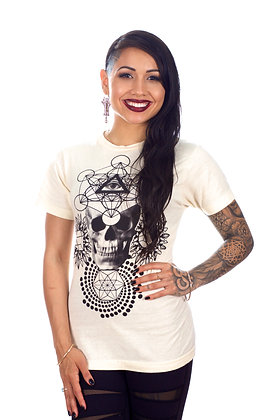 Metatron-Skull Natural T-shirt *sold out*