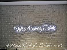 were having twins neon sign - neon sign - adelaide startlight entertainment - weddings - events - birthdays - birthday ideas - wedding ideas