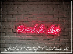 drunk in love neon sign - neon sign - adelaide startlight entertainment - weddings - events - birthdays - birthday ideas - wedding ideas