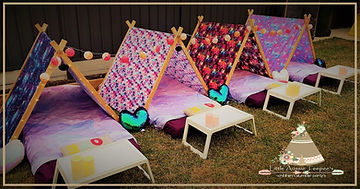 - teepee sleepover parties - teepee slumber parties - little aussie teepees - kids party ideas - teepee party supplies