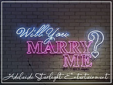 will you marry me? neon sign - neon sign - adelaide startlight entertainment - weddings - events - birthdays - birthday ideas - wedding ideas
