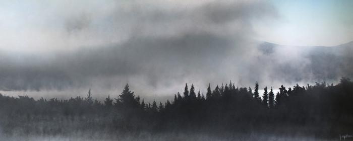 Fog Lifts. Kripalu, Lenox, MA