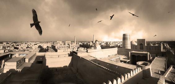 0005_Khiva Panorama, Birds Sepia.jpg