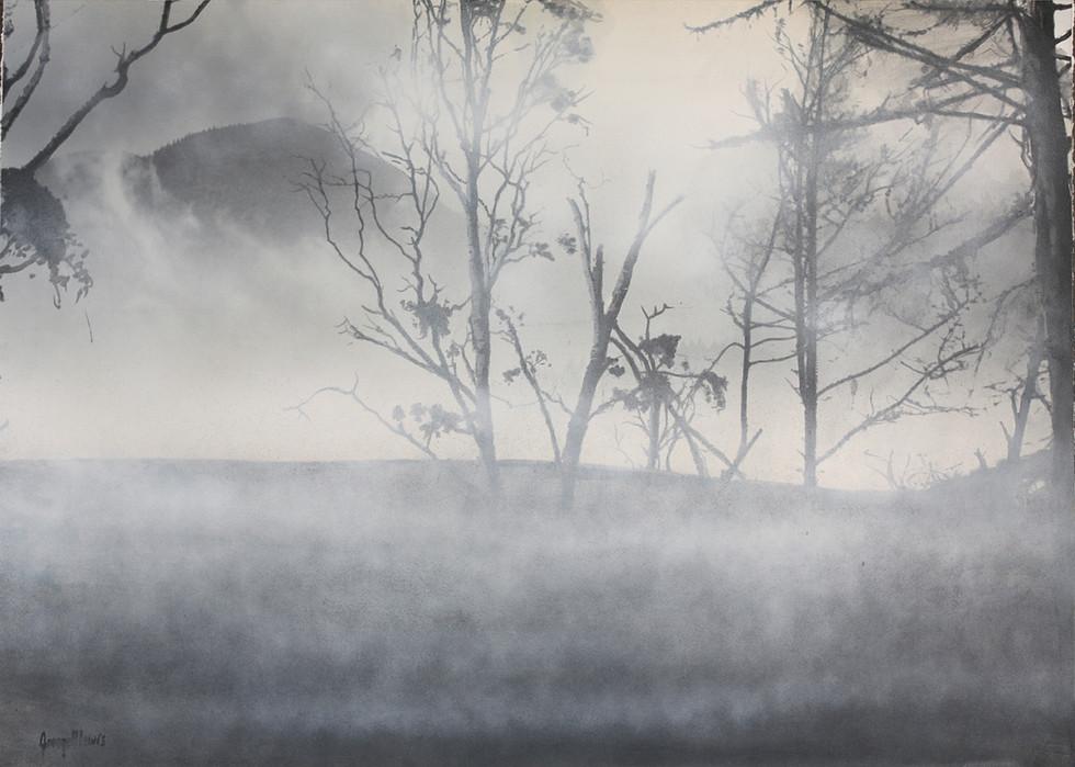 Winter Fog. Hunter Mountain. Catskills